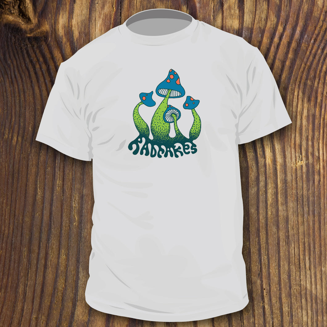 Teal and Green Mushroom shirt design by RadCakes, Jersey Shore, NJ