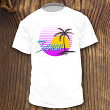 Retro Manasquan shirt design with Palm Tree and sun by RadCakes