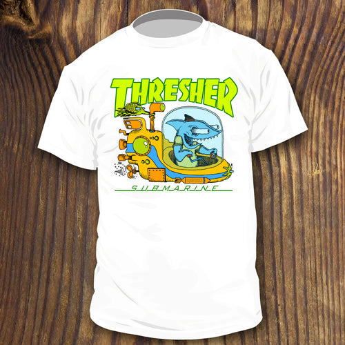 Thresher Shark Thrasher Magazine Spoof shirt Yellow Submarine