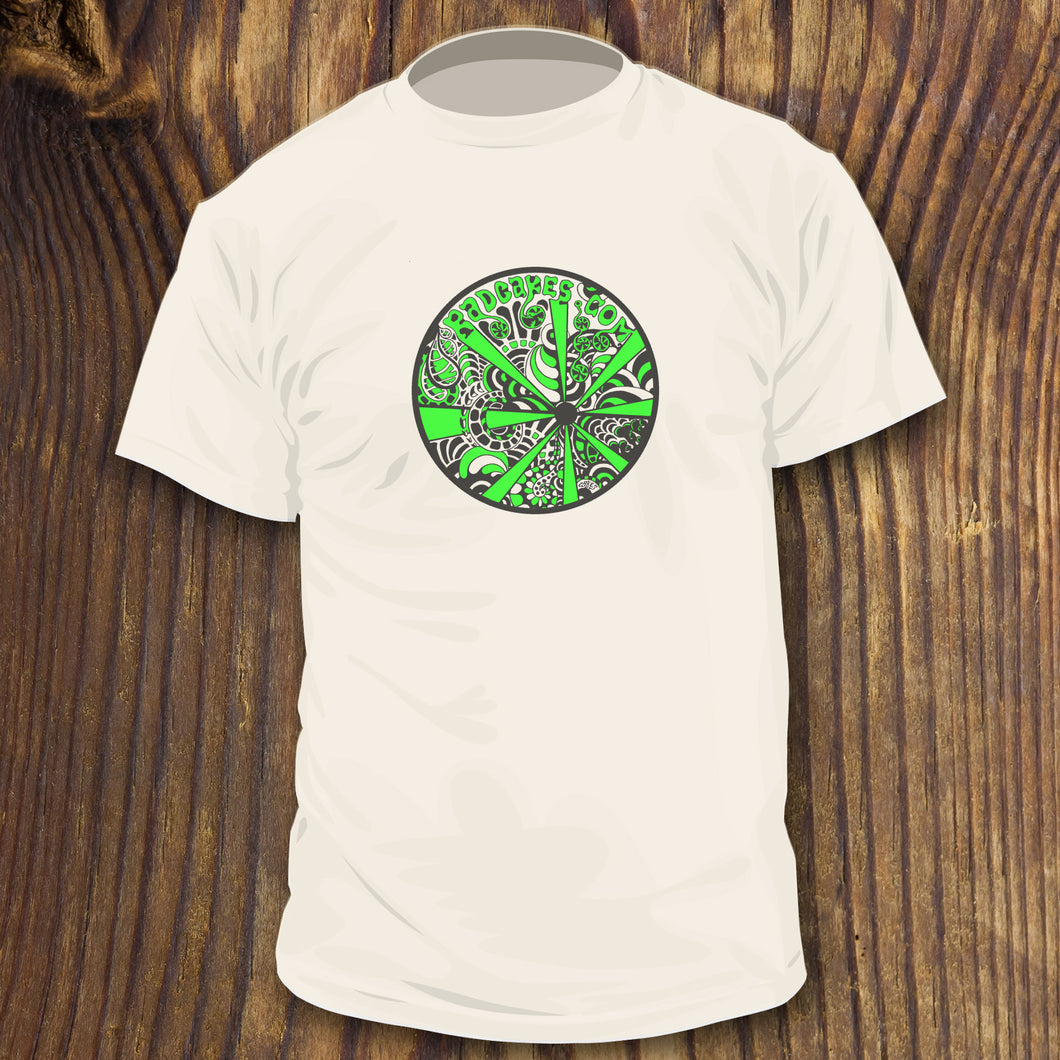 Black and Green psychedelic art design by RadCakes