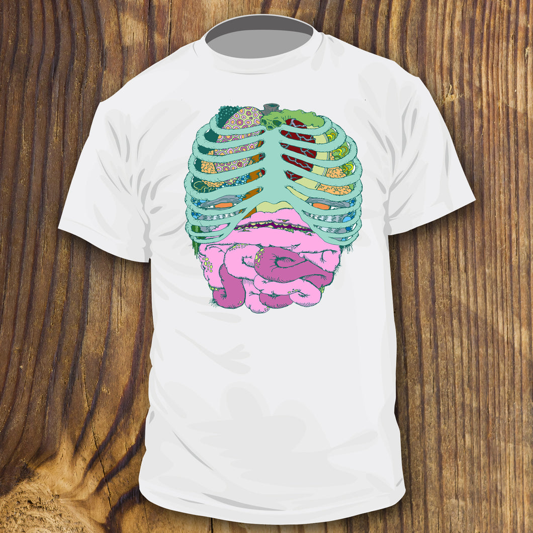 Weird Rib Cage Monster shirt design by RadCakes custom printing