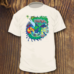 trippy narwhal shirt design by RadCakes custom psychedelic art