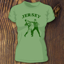 Green New Jersey Pork Roll women's shirt with Boxing Men - RadCakes Shirt Printing