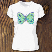 Butterfly and Peacock pattern triblend shirt by RadCakes and Bella Canvas