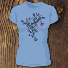 Underwater shirt design with branching coral artwork by RadCakes