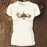 Funny cowboy mustache shirt printed on triblend Bella Canvas