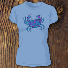 Patterned Crab women's tee - RadCakes Shirt Printing