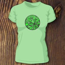 Trippy green psychedelic art shirts by RadCakes