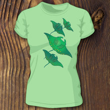 Green triblend Manta Ray shirt SCUBA Dive design by RadCakes