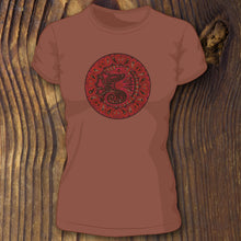 Stained Glass Seahorse women's tee
