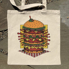 cheeseburger tote bag for sale hand drawn food art
