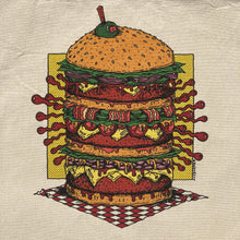 Triple Cheeseburger tote bag