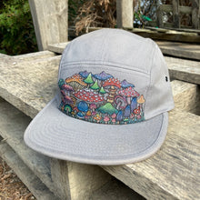 Hand Painted Mushroom 5 Panel Camper Hat #2