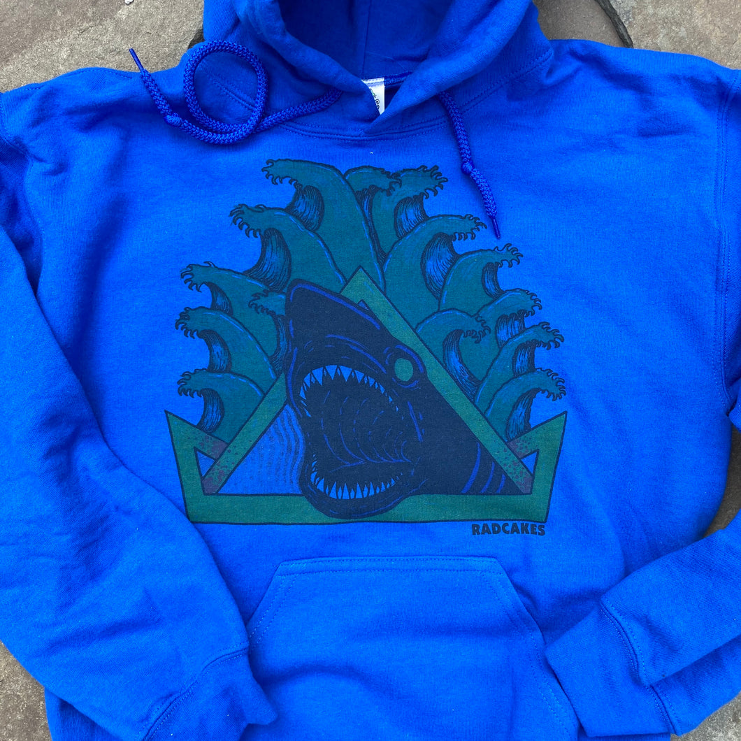 Natas Shark hooded sweatshirt