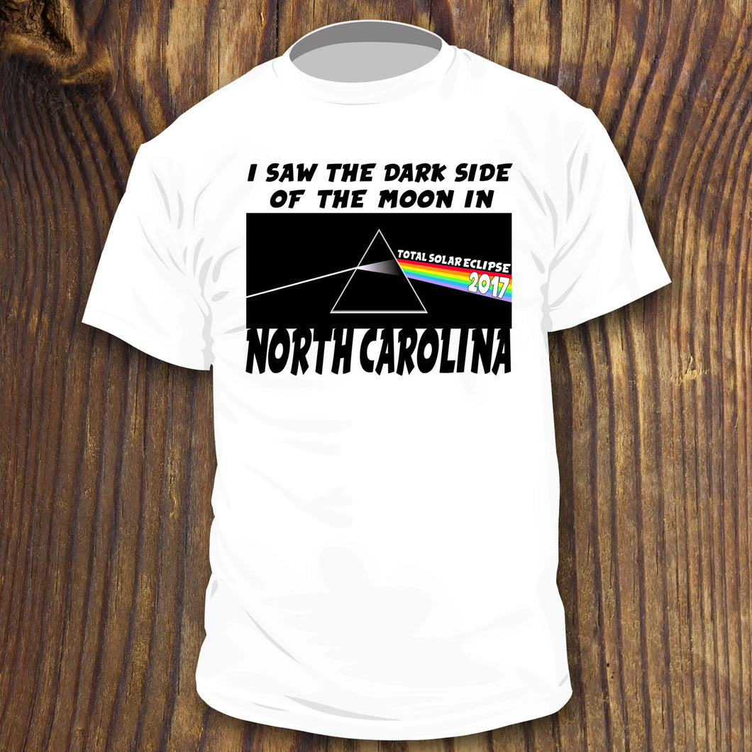 total solar eclipse party shirt for north carolina with funny pink floyd design