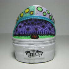 custom purple mushroom custom designed Vans classic slip on shoes