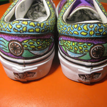 squid eye balls custom designed Vans classic slip on shoes