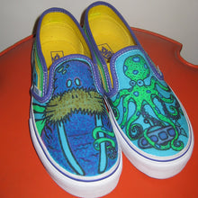 Walrus and Octopus custom designed Vans classic slip on sneakers