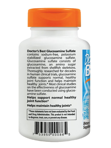 Doctor's Best, Glucosamine Sulfate, 750 mg, 180 ct