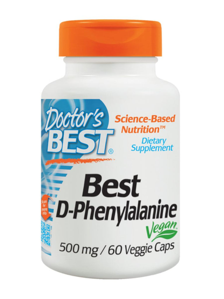 Best D-Phenylalanine, 500MG, 60 veggie caps, Doctor's Best