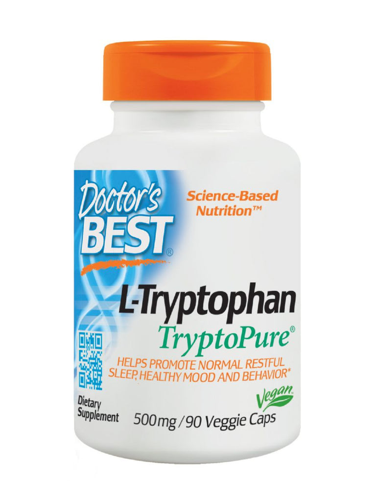 Best L-Tryptophan featuring TryptoPure, 500 mg, 90 veggie caps, Doctor's Best