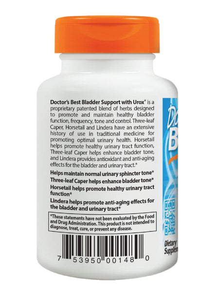 Doctor's Best, Bladder Support featuring Urologic, 60 veggie caps