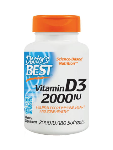 Best Vitamin D3, 2000IU, 180 soft gels, Doctor's Best