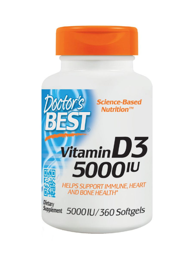 Best Vitamin D3, 5000IU, 360 soft gels, Doctor's Best