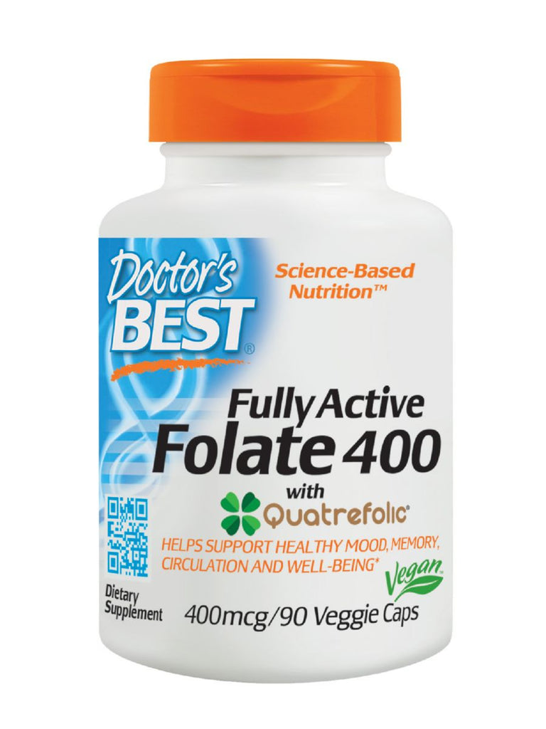 Best Fully Active Folate, 400mcg, 90 veggie caps, Doctor's Best