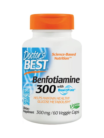 Best Benfotiamine 300, 300mg, 60 veggie caps, Doctor's Best