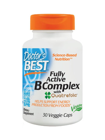Doctor's Best, Fully Active B Complex, 30 veggie caps