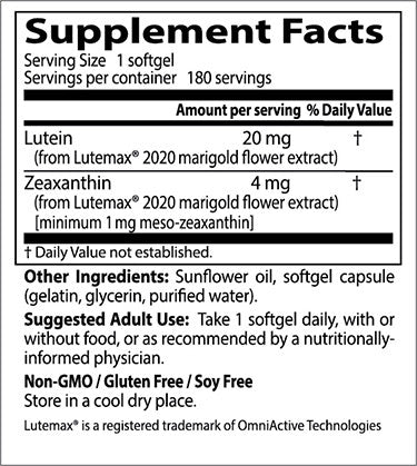 Doctor's Best, Lutein with Lutemax, 180 softgels