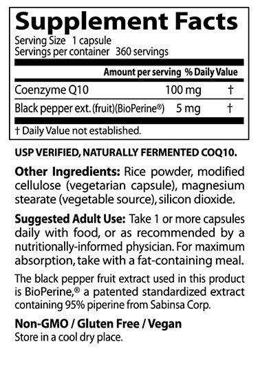 Doctor's Best, High Absorption CoQ10, 100 mg, 360 veggie caps