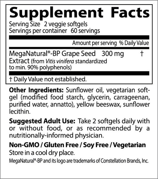 Doctor's Best, Grape Seed Extract with MegaNatural BP, 150 mg, 120 veggie softgels