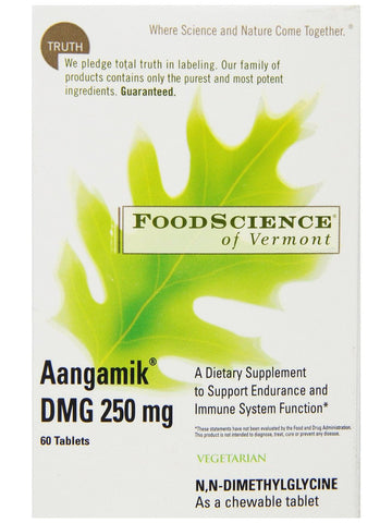 Foodscience Of Vermont, Aangamik DMG 250mg Chewable, 60 tabs