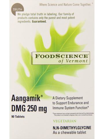 Foodscience Of Vermont, Aangamik DMG 250mg Chewable, 90 tabs