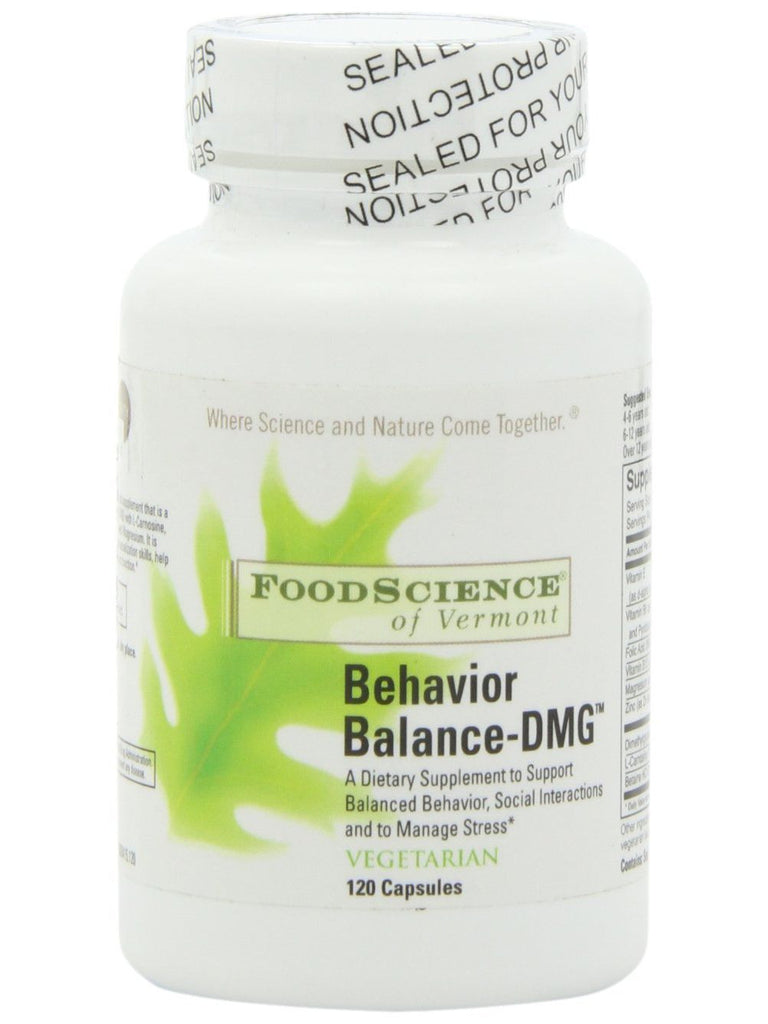 Foodscience Of Vermont, Behavior Balance DMG, 120 caps