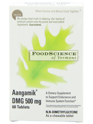 Foodscience Of Vermont, Aangamik DMG 500mg Chewable, 60 tabs