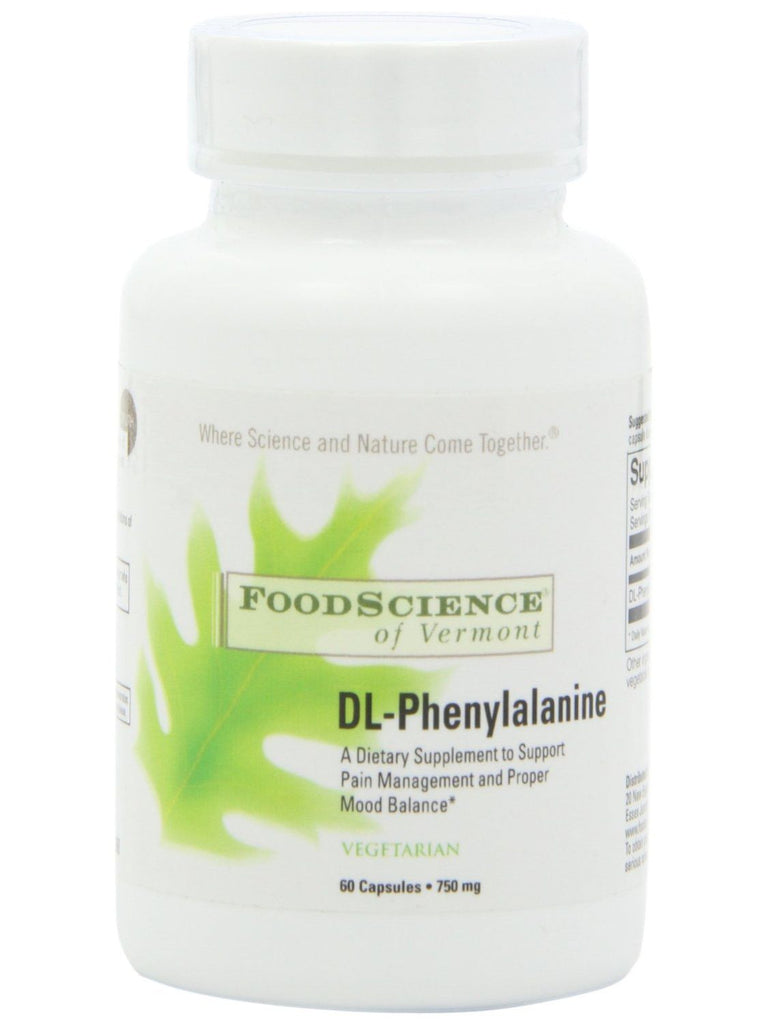 Foodscience Of Vermont, DL-Phenylalanine (DLPA), 60 caps