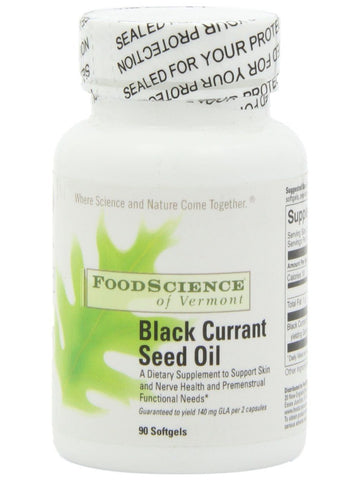 Foodscience Of Vermont, Black Currant Seed Oil, 90 caps