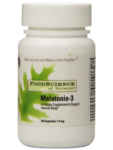 Foodscience Of Vermont, Melatonin-3, 60 caps