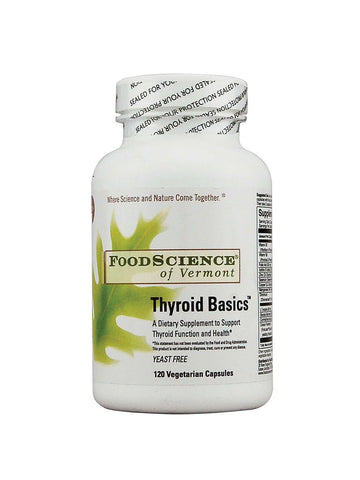 Foodscience Of Vermont, Thyroid Basics, 120 caps