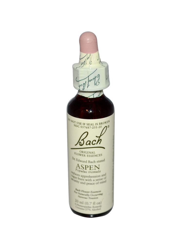Bach Original Flower Essences, Aspen Flower Essence, 0.7 oz (20 ml)