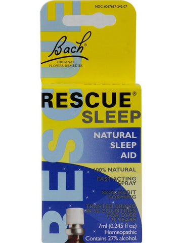 Bach Original Flower Essences, Rescue Sleep, 0.245 oz (7 ml)