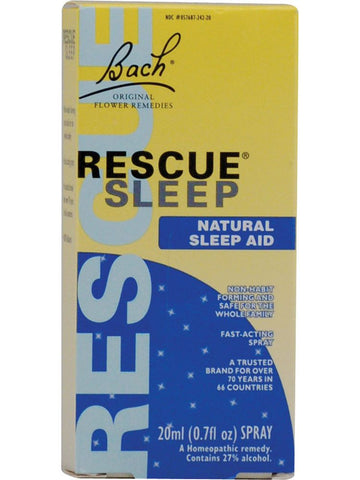 Bach Original Flower Essences, Rescue Sleep, 0.7 oz (20 ml)