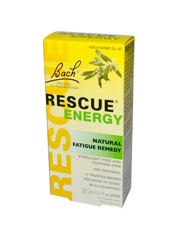 Bach Original Flower Essences, Rescue Energy, 0.7 oz (20 ml)