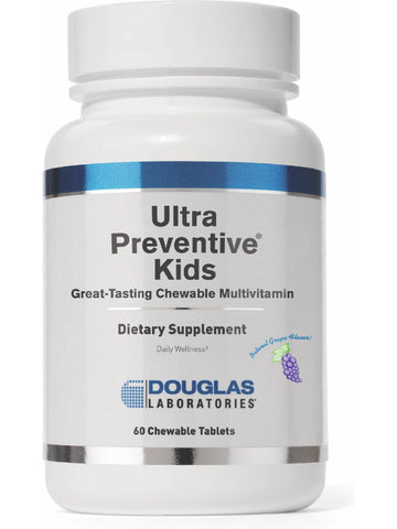 Douglas Labs, Ultra Preventive Kids, Grape, 60 tabs