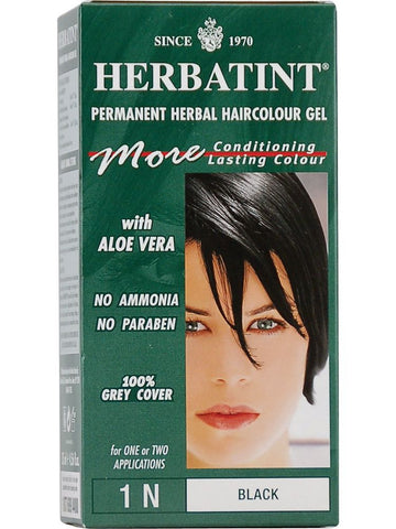 Herbatint Hair Color, Herbatint 1N, Black