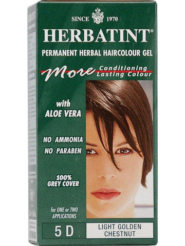 Herbatint Hair Color, Herbatint 5D, Light Golden Chestnut