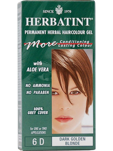 Herbatint Hair Color, Herbatint 6D, Dark Golden Blonde